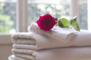 merian hotel einzelzimmer blume und handtücher